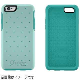 iPhone 6用 Symmetry グラフィックシリーズ アクアブルー/ライトティール/ポルカドット AQUA DOT OTB-PH-000165