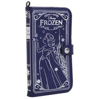 iPhone6用 手帳型 Old Book Case ディズニー・アナと雪の女王 エルサ/ネイビー IP6DSOLDBOOK47