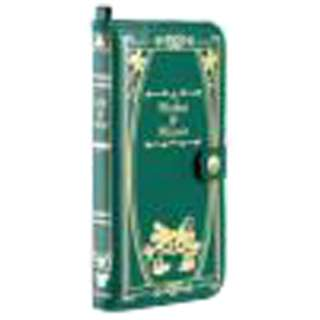 iPhone 6 Plus用 手帳型 Old Book Case ディズニー・ミッキー&ミニー/モスグリーン IP6DSOLDBOOK55MKMNGR