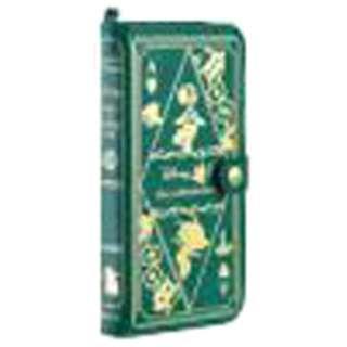 iPhone 6 Plus用 手帳型 Old Book Case ディズニー・アリス/モスグリーン IP6DSOLDBOOK55GR