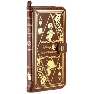 iPhone 6 Plus用 手帳型 Old Book Case ディズニー・アリス/ブラウン IP6DSOLDBOOK55BR