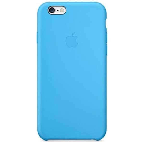 【純正】 iPhone 6用 シリコンケース ブルー MGQJ2FE/A