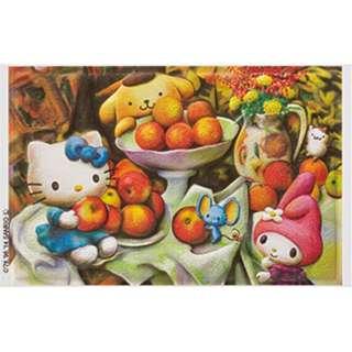 カシオアート 「ハローキティレリーフ リンゴとオレンジとハローキティ」(S) DA-R100-0013