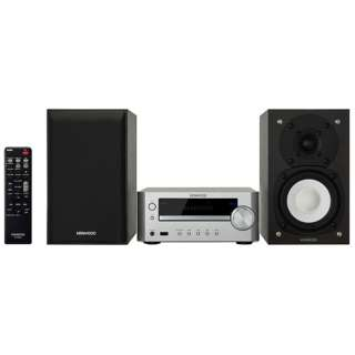 【ワイドFM対応】ミニコンポ(iPod・USB・CD対応)シルバー K-505-S