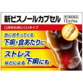 【第2類医薬品】 新ビスノールカプセル(12カプセル)〔下痢止め〕