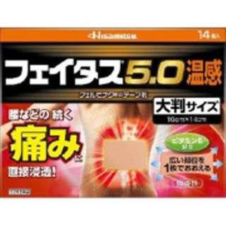 【第2類医薬品】 フェイタス5.0温感大判(14枚) ★セルフメディケーション税制対象商品