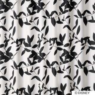 ドレープカーテン ミッキー/ブロードリーフ(100×135cm/ブラック)【日本製】