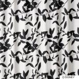 ドレープカーテン ミッキー/ブロードリーフ(100×200cm/ブラック)【日本製】[生産完了品 在庫限り]