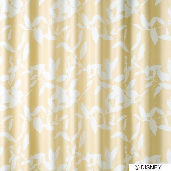 ドレープカーテン ミッキー/ブロードリーフ(100×200cm/ベージュ)【日本製】