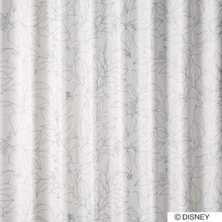 ドレープカーテン ミッキー/スリップリーフ(100×200cm/シルバー)【日本製】