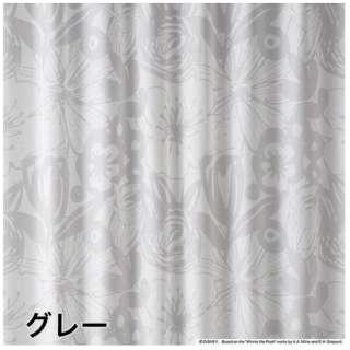レースカーテン プー/ボールドボイル(100×133cm/グレー)【日本製】