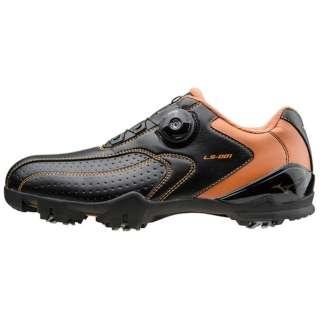メンズ ゴルフシューズ ライトスタイル001 ボア(24.5cm/ブラック×オレンジ)51GM152709