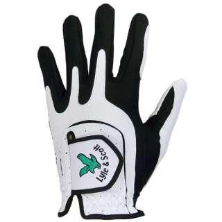 【メンズ 左手用】ゴルフグローブ Lyle&Scott 4001(22~25cm/ホワイト×ブラック)GL-4001