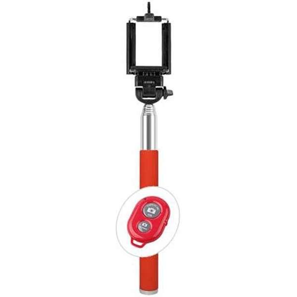 自分撮りスティックsmastickスマスティック(リモコン付/レッド) SS-02RRD [生産完了品 在庫限り]