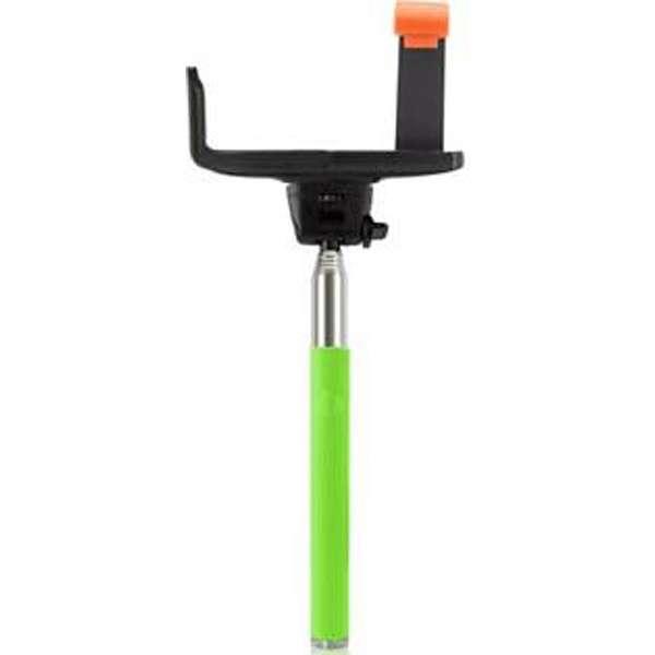 自分撮りスティックsmastickスマスティック(手元シャッタータイプBluetooth接続/ライトグリーン) SS-03RGR