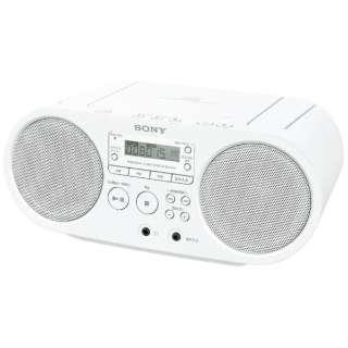 ZS-S40 CDラジオ ホワイト [ワイドFM対応]