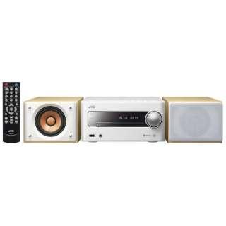 【ワイドFM対応】Bluetooth対応 ミニコンポ(ホワイト) EX-S5W