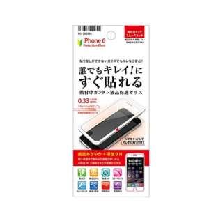 iPhone 6用 貼付けカンタン液晶保護ガラス 光沢 PG-I6JG01