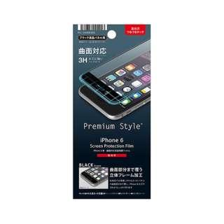 iPhone 6用 曲面対応液晶保護フィルム 光沢 ブラック PG-I6HD03BK