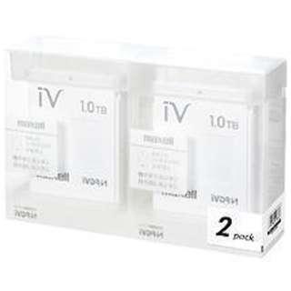 M-VDRS1T.E.WH2P iV-DR(アイヴィ) カラーシリーズ ホワイト [1TB /2個]