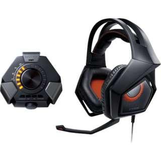 STRIX DSP ゲーミングヘッドセット STRIX ブラック [φ3.5mmミニプラグ+USB /両耳 /ヘッドバンドタイプ]