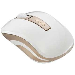 6610GL スマホ/タブレット対応 マウス Rapoo ゴールド  [光学式 /3ボタン /Bluetooth・USB /無線(ワイヤレス)]