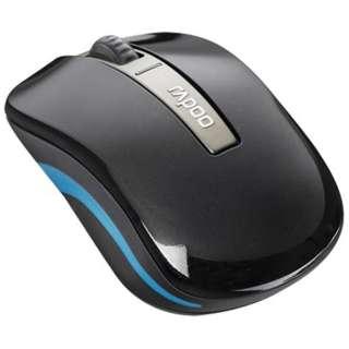 6610 スマホ/タブレット対応 マウス Rapoo ブラック  [光学式 /3ボタン /Bluetooth・USB /無線(ワイヤレス)]