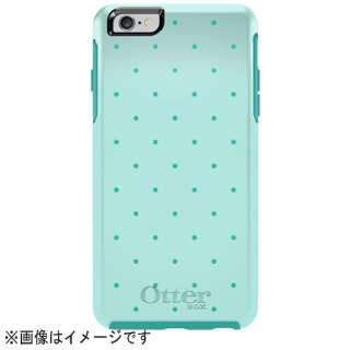 iPhone 6 Plus用 Symmetry グラフィックシリーズ アクアブルー/ライトティール/ポルカドット OTB-PH-000177