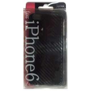 iPhone 6用 ハード PCケース カーボン調柄 ブラック JKCVPC-IP6BK