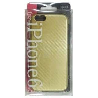 iPhone 6用 ハード PCケース カーボン調柄 ゴールド JKCVPC-IP6GD