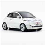 FACE 660486 マウス クリックカーマウス Fiat 500(ホワイト)  [光学式 /USB /無線(ワイヤレス)]