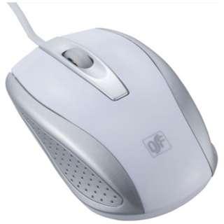 PC-SM02-W マウス 快適スムーズ Mサイズ ホワイト  [光学式 /3ボタン /USB /有線]