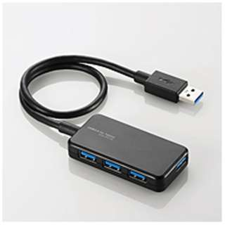 U3HA-411B USBハブ  ブラック [USB3.0対応 / 4ポート / バスパワー]
