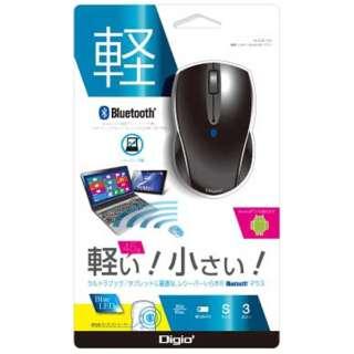 MUS-BKT99BK スマホ/タブレット対応 マウス Digio2 Sサイズ ブラック  [BlueLED /3ボタン /Bluetooth /無線(ワイヤレス)]