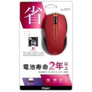 MUS-RIF100R マウス Digio2 レッド  [IR LED /5ボタン /USB /無線(ワイヤレス)]