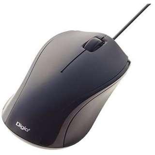 MUS-UKT102BK マウス Digio2 ブラック  [BlueLED /3ボタン /USB /有線]