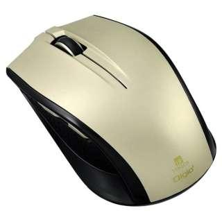 MUS-RIF100GL マウス Digio2 Mサイズ ゴールド  [IR LED /5ボタン /USB /無線(ワイヤレス)]