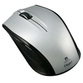 MUS-RIF100SL マウス Digio2 Mサイズ シルバー  [IR LED /5ボタン /USB /無線(ワイヤレス)]