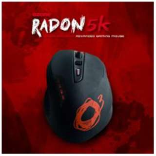 OZRADON5K ゲーミングマウス Radon 5K ブラック  [レーザー /8ボタン /USB /有線]