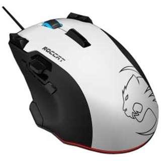 ROC-11-851-AS ゲーミングマウス Tyon ホワイト  [レーザー /14ボタン /USB /有線]