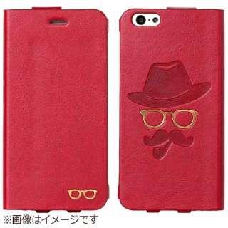 iPhone6用 手帳型 Gentleman Case レッド mononoff MCI-14GM-RD