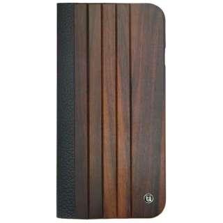 iPhone 6用 Wooden Case with Panel Design ブラック/ブラウン UUNIQUE UUIP6WC03