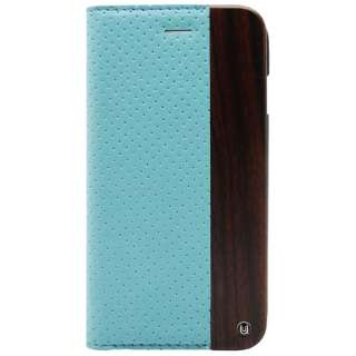 iPhone 6用 Wooden Case with Perforated design ブルー UUNIQUE UUIP6WC11