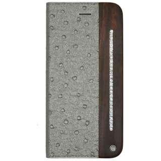 iPhone 6用 Wooden Case with Ostrich design シルバー UUNIQUE UUIP6WC10