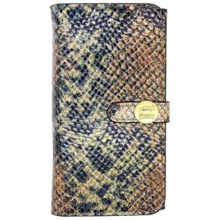 iPhone 6用 Luxe Exotic Female Wallet Snakeタン UUNIQUE UUOOIP6LFW01