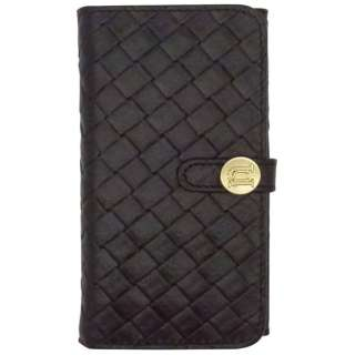 iPhone 6用 Luxe Exotic Female Wallet Weaveブラック UUNIQUE UUOOIP6LFW04