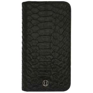 iPhone 6 Plus用 Luxe Exotic Croc Folio Wallet- Unisex/Men ブラック UUNIQUE UUOOIPALMW03