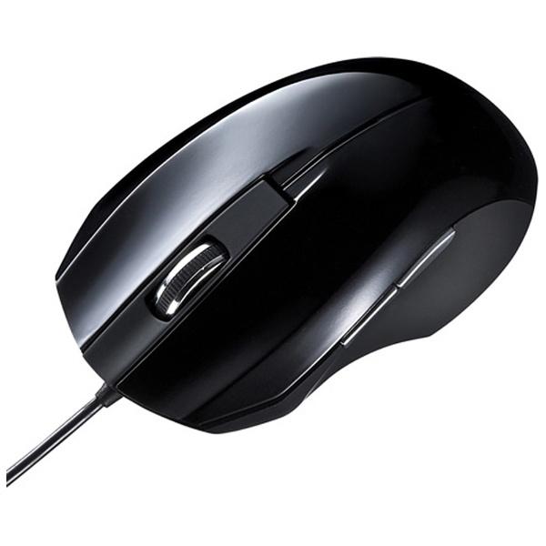 サンワサプライ 静音有線ブルーLEDマウス MA-BL10BK 1個