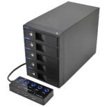 USB3.0対応 SATA3.5HDDケース 裸族のカプセルホテル5Bay CRCH535U3ISC