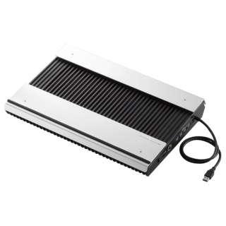 ノートPC用クーラー [USB接続(USBハブ搭載)] 高耐久性・極冷タイプ(15.4~17型対応・シルバー/ブラック) SX-CL24LBK
